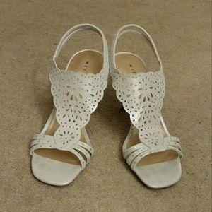 Silver Metaphor heels